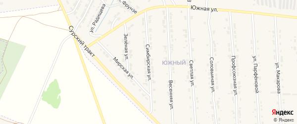 Симбирская улица на карте Алатыря с номерами домов