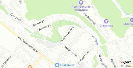 Сызранский проезд в Кузнецке с номерами домов на карте. Спутник и схема онлайн