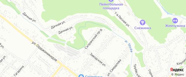 Сызранский проезд на карте Кузнецка с номерами домов