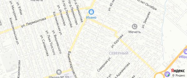 40 лет Октября улица 5-й проезд на карте Хасавюрта с номерами домов
