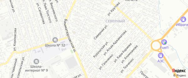 Улица Северная 9-я тупик 3 на карте Хасавюрта с номерами домов