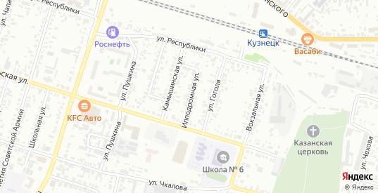 Ипподромная улица в Кузнецке с номерами домов на карте. Спутник и схема онлайн