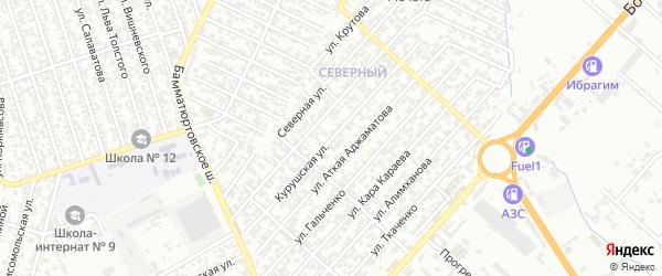 Курушская улица на карте Северного поселка с номерами домов