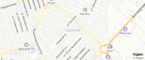 Теречная улица на карте Северного поселка с номерами домов