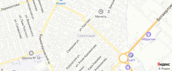 Улица Крутова П. на карте Северного поселка с номерами домов