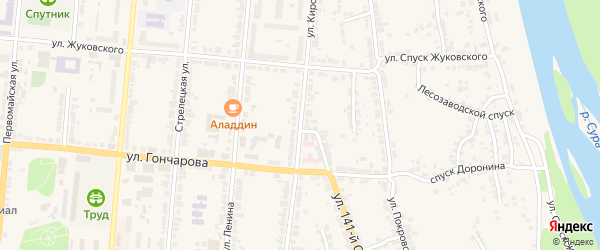 Улица Кирова на карте Алатыря с номерами домов