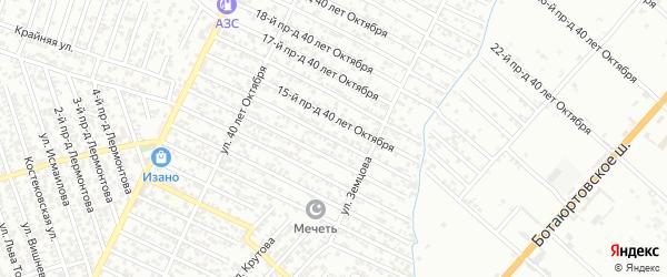 40 лет Октября улица 14-й проезд на карте Хасавюрта с номерами домов
