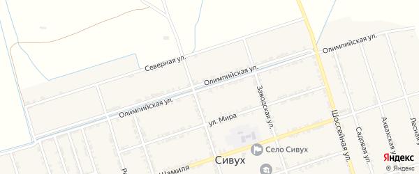 Олимпийская улица на карте села Сивуха с номерами домов