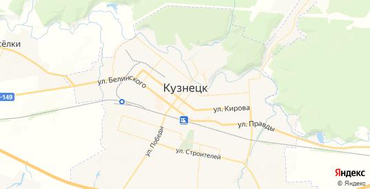 Карта Кузнецка с улицами и домами подробная. Показать со спутника номера домов онлайн
