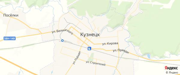 Карта Кузнецка с районами, улицами и номерами домов