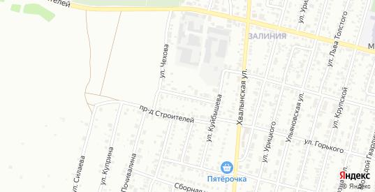 Проезд Горького в Кузнецке с номерами домов на карте. Спутник и схема онлайн