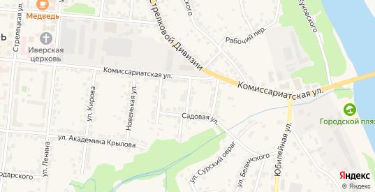 1-й Садовый переулок в Алатыре с номерами домов на карте. Спутник и схема онлайн