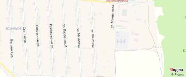 Улица А.В.Кочетова на карте Алатыря с номерами домов