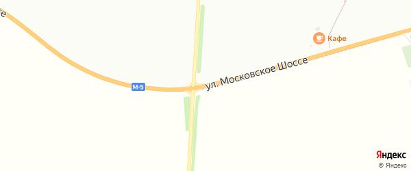 Улица Московское шоссе на карте Кузнецка с номерами домов