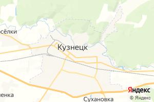 Карта г. Кузнецк