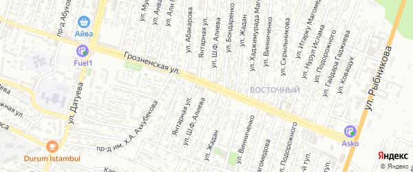 Улица Алиева Ш.Ф. на карте Восточного микрорайона с номерами домов