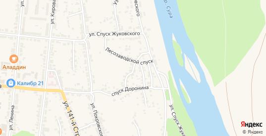 Улица 1-й Сурский косогор в Алатыре с номерами домов на карте. Спутник и схема онлайн