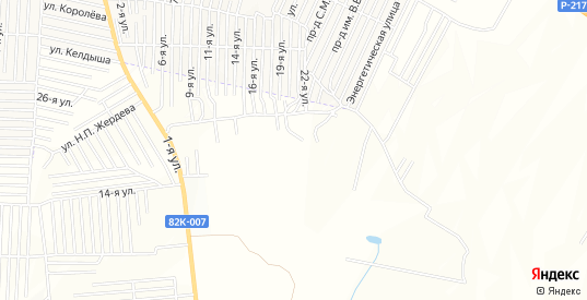Карта поселка Южный в Хасавюрте с улицами, домами и почтовыми отделениями со спутника онлайн