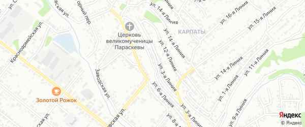 Улица 5 Линия на карте Кузнецка с номерами домов