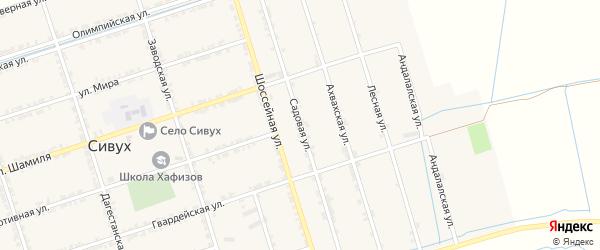 Садовая улица на карте села Сивуха с номерами домов
