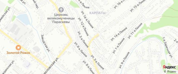 Улица 12 Линия на карте Кузнецка с номерами домов