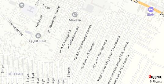 Энергетическая улица 6-й проезд в Хасавюрте с номерами домов на карте. Спутник и схема онлайн