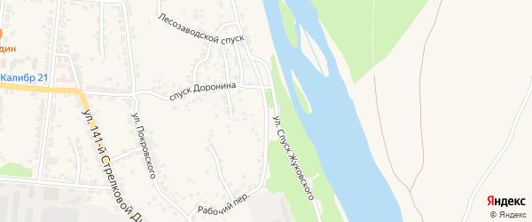 Улица 3-й Сурский косогор на карте Алатыря с номерами домов