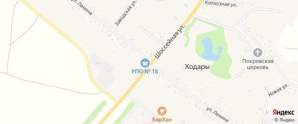 Улица Ленина на карте села Ходары с номерами домов