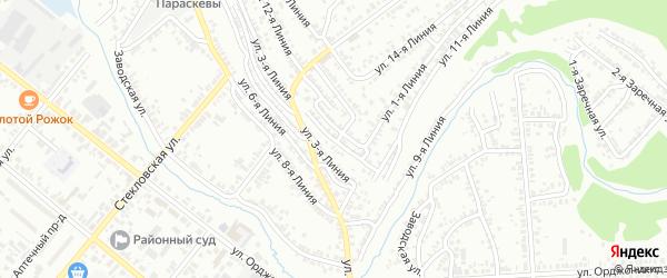 Улица 2 Линия на карте Кузнецка с номерами домов