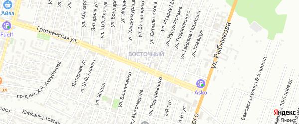Улица Магомедова Итарку на карте Восточного микрорайона с номерами домов