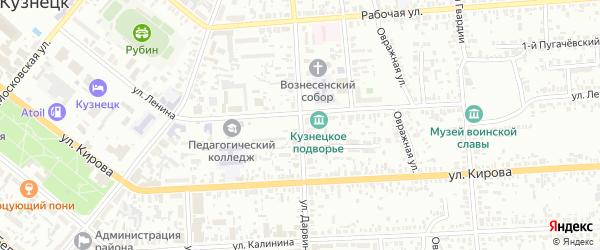 Улица Дарвина на карте Кузнецка с номерами домов