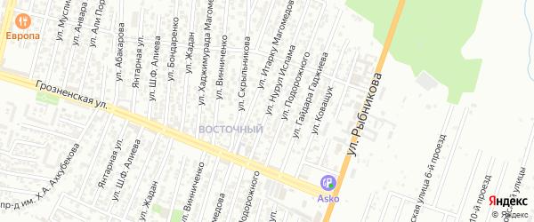 Улица Коваленко П.В. на карте Восточного микрорайона с номерами домов