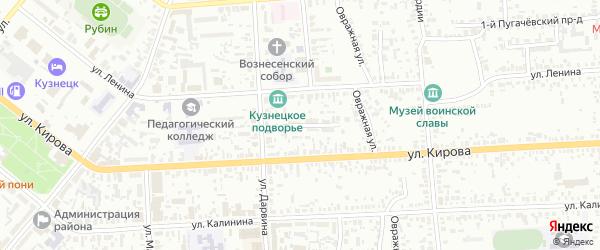 Дарвинский проезд на карте Кузнецка с номерами домов