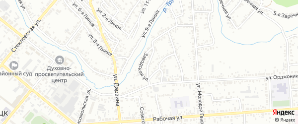 Кузнечный 2-й переулок на карте Кузнецка с номерами домов