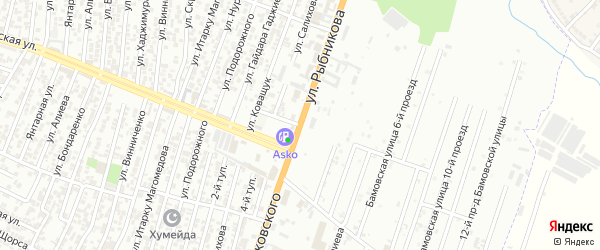 Улица Рыбникова А.И. на карте Восточного микрорайона с номерами домов