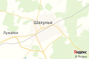 Карта г. Шахунья Нижегородская область