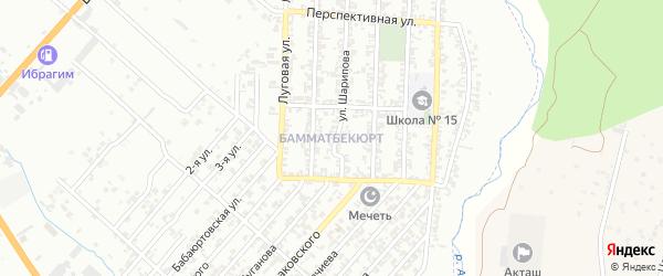 Улица А.Н.Хуторянского на карте поселка Бамматбекюрта с номерами домов