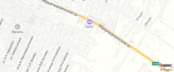 Энергетическая улица 1-й проезд на карте Хасавюрта с номерами домов