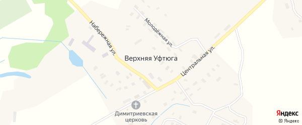 Заречная улица на карте села Верхней Уфтюги с номерами домов