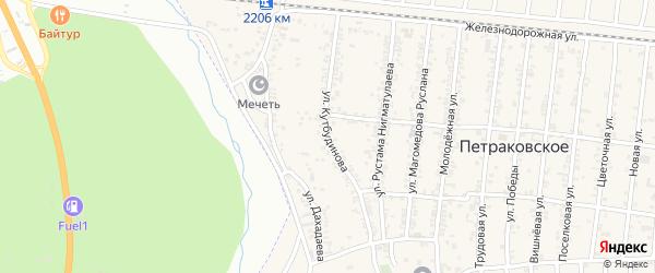 Буйнакская улица на карте Петраковского села с номерами домов