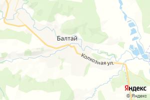Карта пгт Балтай Саратовская область