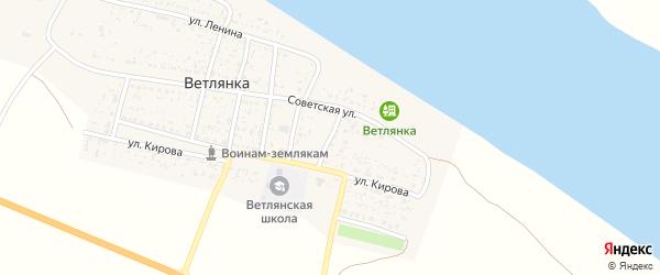 Переулок 1 Мая на карте села Ветлянки Астраханской области с номерами домов