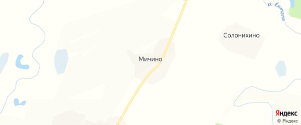 Карта деревни Мичино в Вологодской области с улицами и номерами домов
