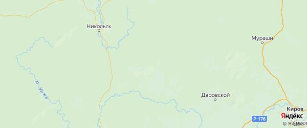 Карта Вохомского района Костромской области с городами и населенными пунктами