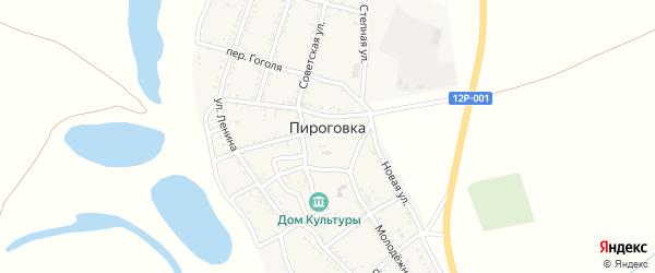 Юбилейный переулок на карте села Пироговки Астраханской области с номерами домов