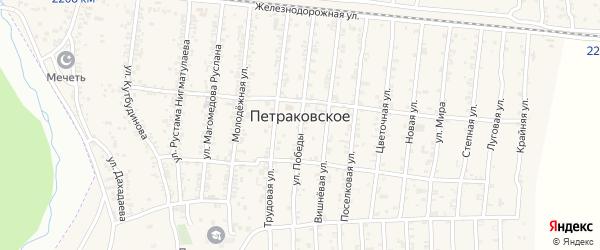 Поселковая улица на карте Петраковского села с номерами домов