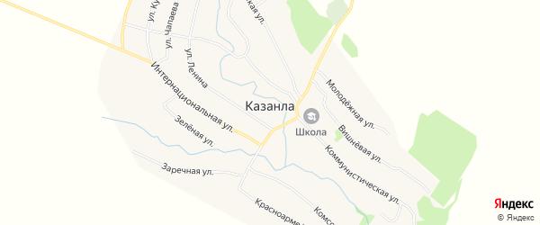 Карта села Казанла в Саратовской области с улицами и номерами домов