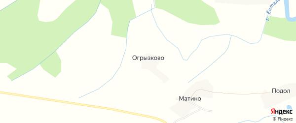 Карта деревни Огрызково в Вологодской области с улицами и номерами домов