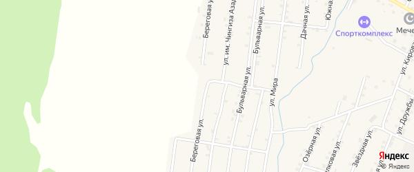 Береговая улица на карте Покровского села Дагестана с номерами домов