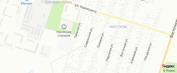 Славянская улица на карте Котласа с номерами домов